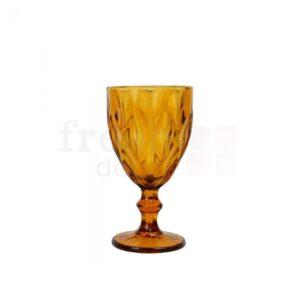 zheltyj bokal iz stekla s krupnymi granyami 1