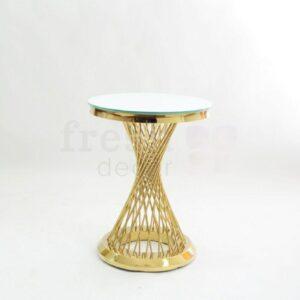 zolotoj kruglyj kofejnyj stol s prutikami s beloj stoleshnicej v ukraine 1
