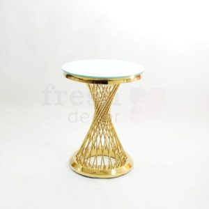 zolotoj kruglyj stol s prutikami s beloj stoleshnicej 1