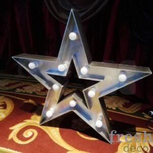 zvezda serebryanaya svetyashhayasya s lampochkami 1